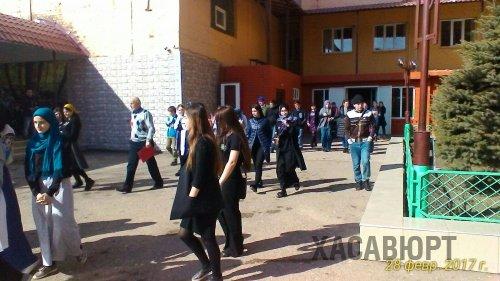 Спасатели Хасавюрта провели тренировку по практической эвакуации