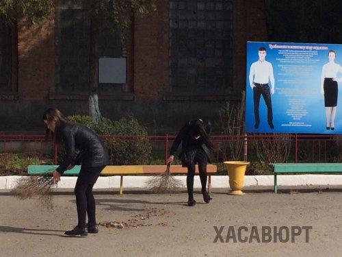 Хасавюртовцы приняли участие в общереспубликанском субботнике