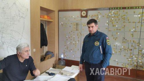 Сотрудники Управления ГО ЧС и ПБ провели проверку объектовых дежурно - диспетчерских служб города Хасавюрт