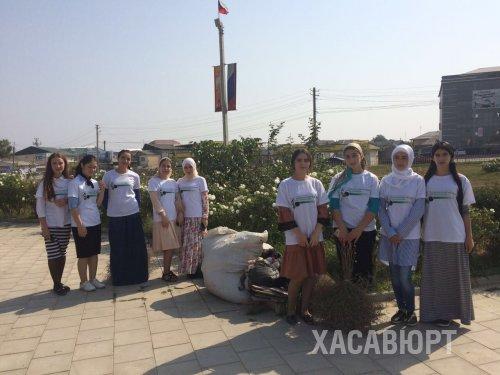 К международному дню чистоты в Хасавюрте провели общегородской субботник
