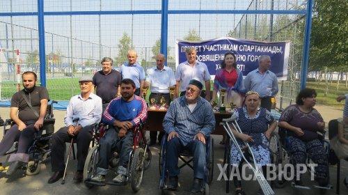 В Хасавюрте провели спартакиаду инвалидов-колясочников, приуроченную ко Дню города