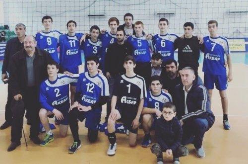 Команда Хасавюрта стала победителем первенства РД по волейболу среди юношей 2003 года рождения