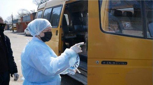 В Хасавюрте провели дезинфекцию общественного транспорта