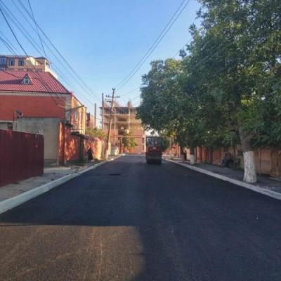 В Хасавюрте началась укладка асфальта по улице Нурадилова